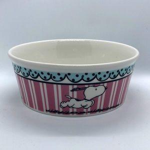 "Peanuts Snoopy Pet Bowl Stoneware Gibson5"""